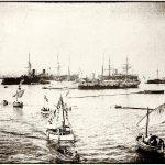 Le Lancement du Jauréguiberry (n°904) à La Seyne sur mer (27 octobre 1893)