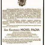Les obsèques de Michel Pacha