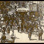 Un jour de 1904 au bas du Marché de La Seyne sur mer