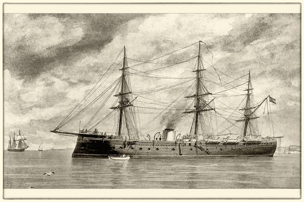 Le lancement du Numancia à La Seyne sur mer en 1865