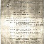 Essais des mécanismes du pont levis 30/04/1917
