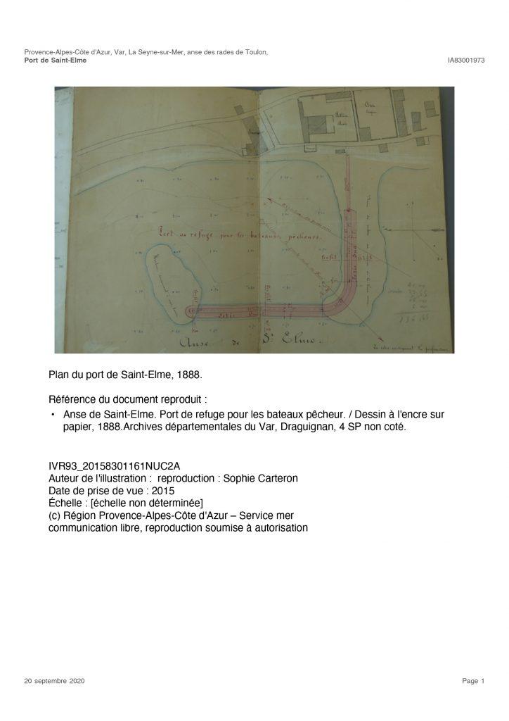 Projets pour St Elme (1888)